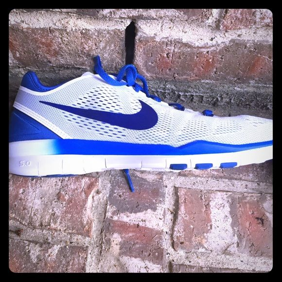 Nike workout shoes Fun blue workout shoes brand new never been worn before. Nike Shoes Athletic Shoes