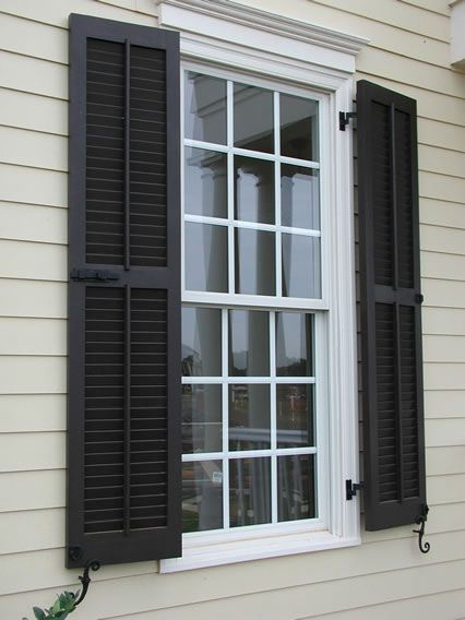 Best 25 exterior shutter colors ideas on pinterest - Exterior louvered window shutters ...
