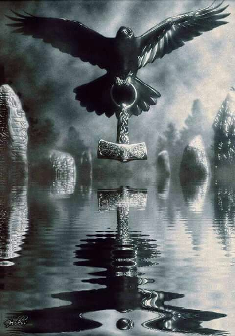 Phoenix with thors' hammer                                                                                                                                                                                 Mehr