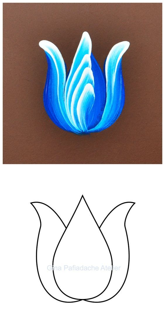 Tulipa em Bauernmalerei: