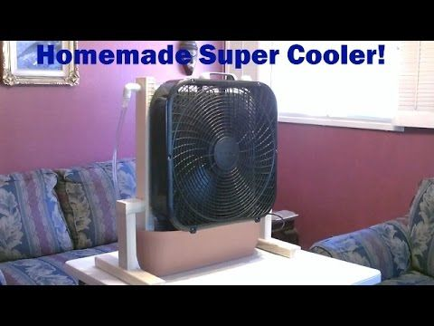 "Homemade Evaporative Cooler! - ""whole room"" Super Cooler! - up to 30F drop! - Easy DIY - YouTube"
