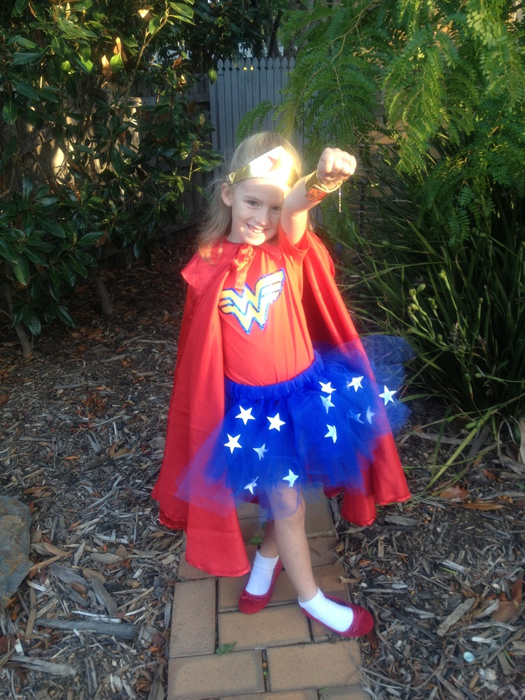 Wonder Women Outfit For Kids Super Hero Day At School -2805