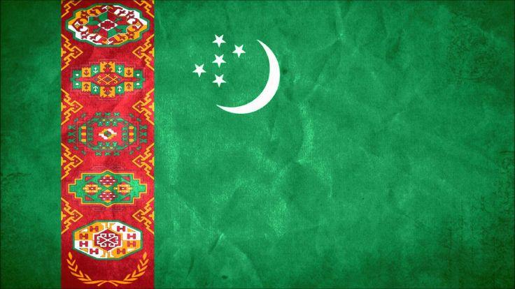Flag of Turkmenistan wallpaper