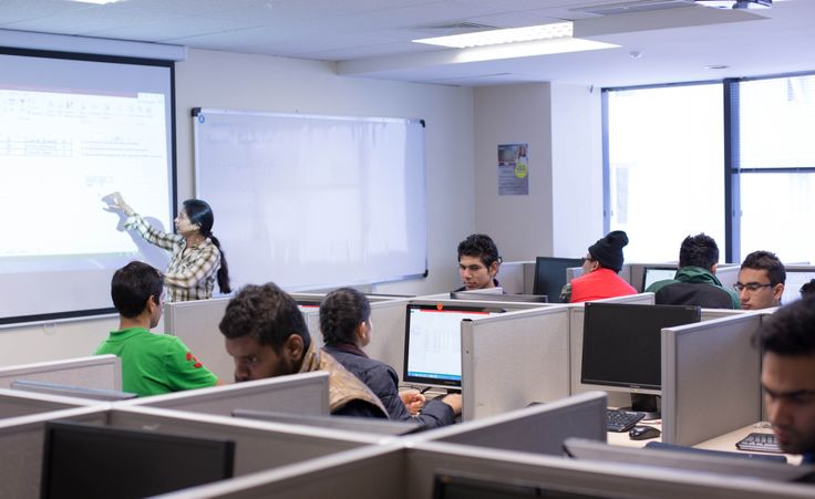 Learning in the computer lab at MHF