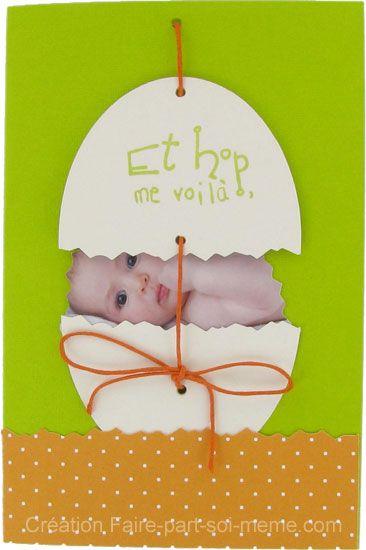 Faire-part naissance Bébé de Pâques