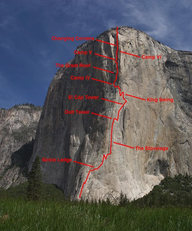 What Happened To The New Yosemite Guidebook Thread: Climbing Route And Pitches For The Nose On El Capitan
