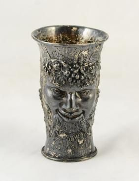 English Sterling Bacchus wine cup, Chester, c 1897-98