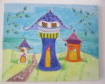 fairytale mushroom houses