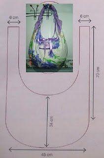 Moldes Para Artesanato em Tecido: Bolsas de tecido com moldes