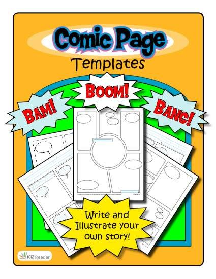 make your own comic strip template - 514 best images about blackline masters templates