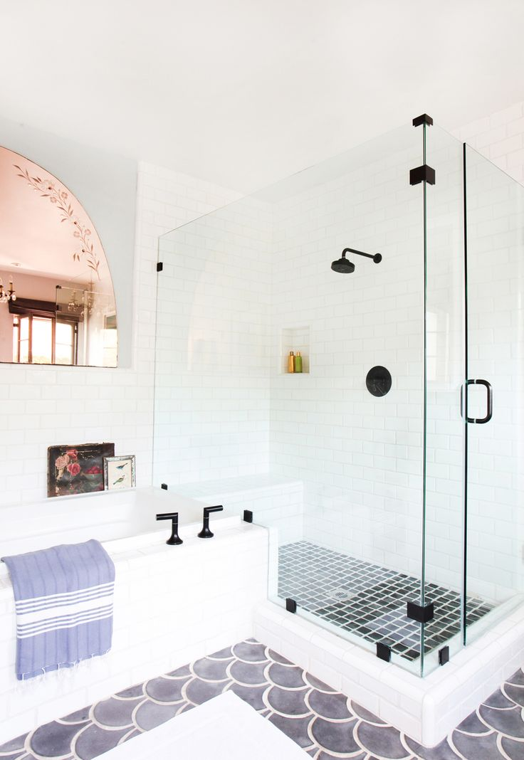 Spanish inspired bathroom