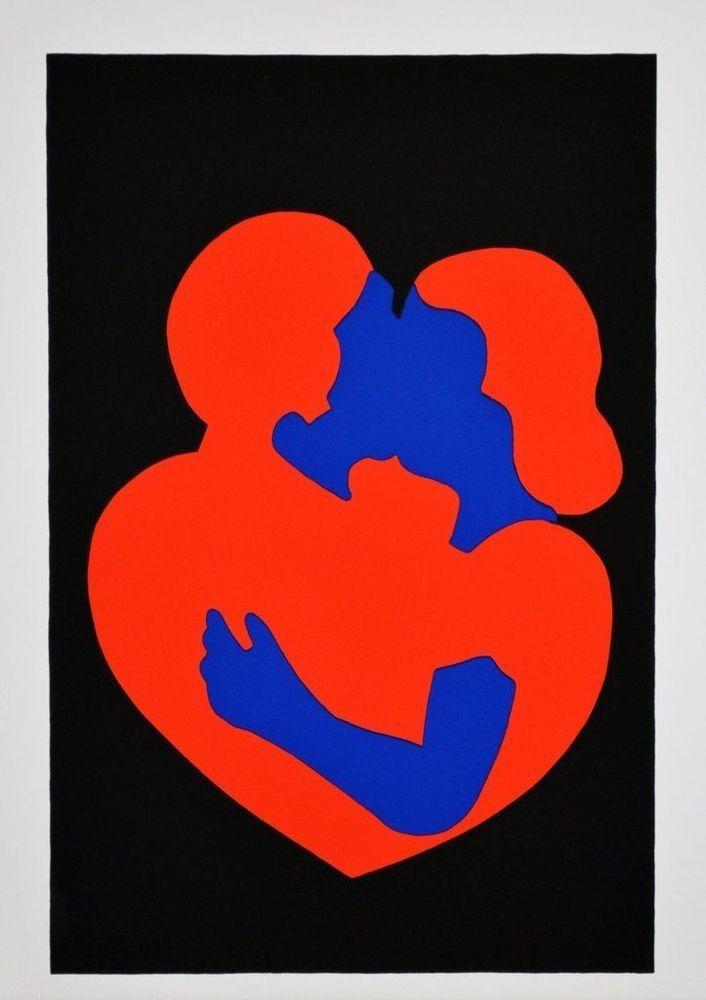 LODOLA MARCO - LOVERS - Serigrafia a colori - FORMATO FOGLIO - 35 x 50 cm