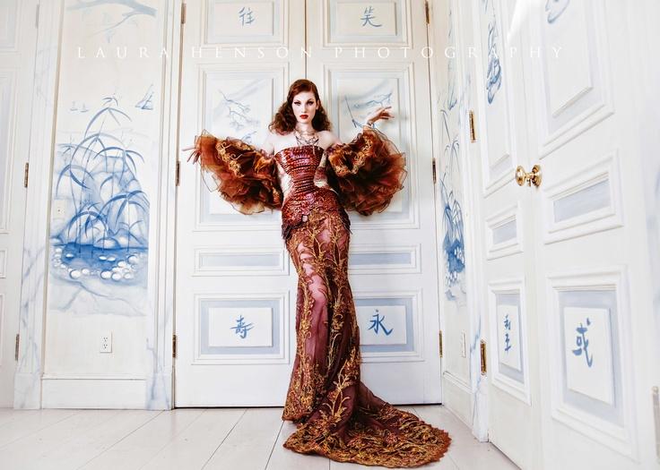 High fashion photography, dramatic photography The Phoenix