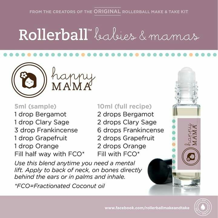 Happy Mama Rollerball Recipe Eo Pinterest Happy And