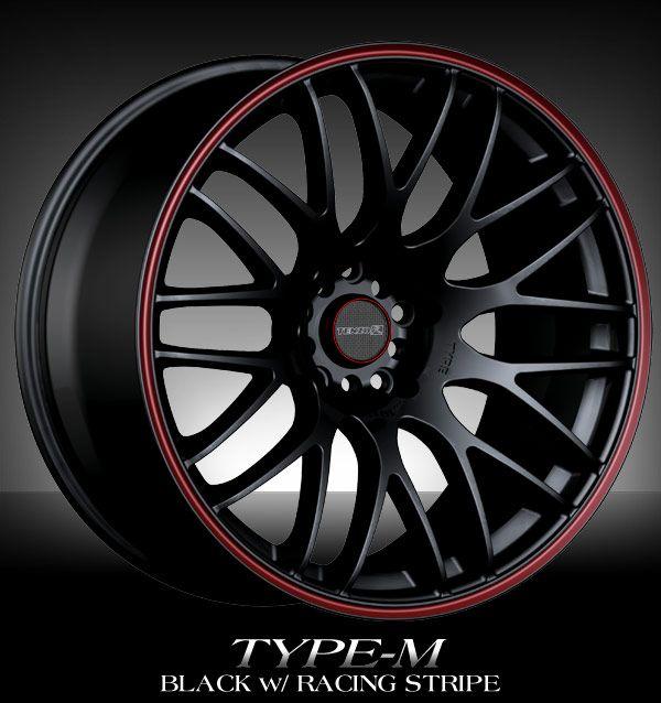 black u0026 red rims