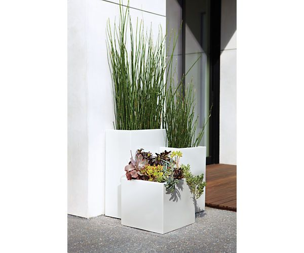 Steel Square Planters - Steel Rectangular Planters - Outdoor - Room & Board