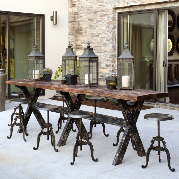 Comfy Dining Chairs Rustic Table