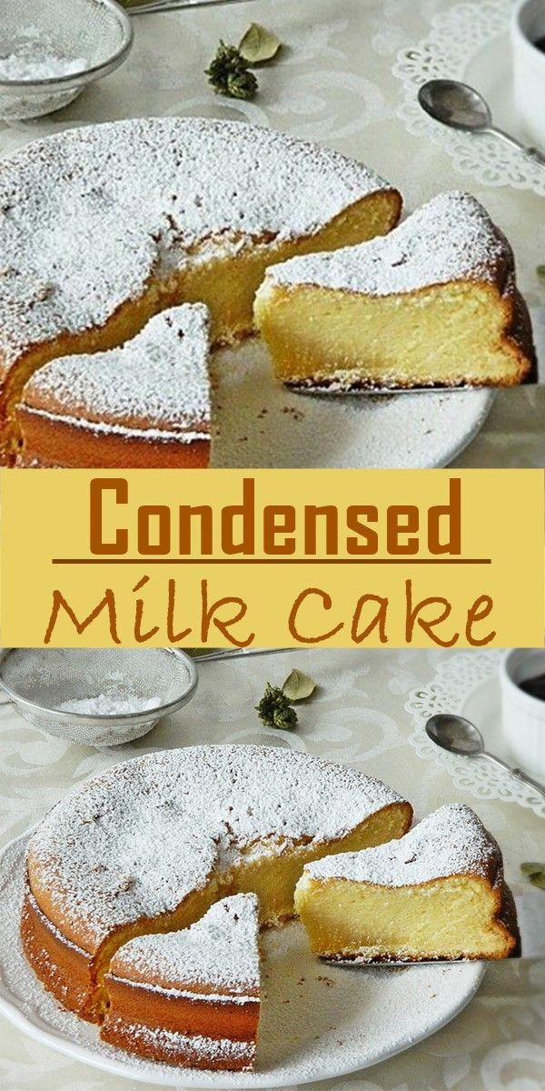 Cake With Zucchini Bacon And Goat S Cheese Clean Eating Snacks Recipe Condensed Milk Cake Sweetened Condensed Milk Recipes Cake Recipes Easy Homemade
