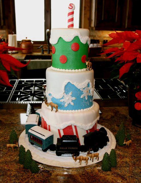 Polar Express Birthday Party by CMH Cakes  www.cmhcakes.blogspot.com