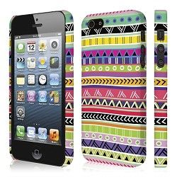 Aztec inspired iPhone 5 case from the Signature Series by Empire Case. Felt lined, slim fit hardcover case. Also available for the iPhone 4-4S, Blackberry Z10, Samsung Galaxy SIII and S4. comes with free screen protector and microfiber cleaning cloth.
