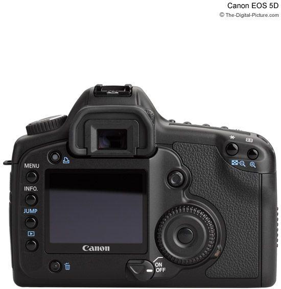 Canon EOS 1Ds Mark III Rear View Comparison