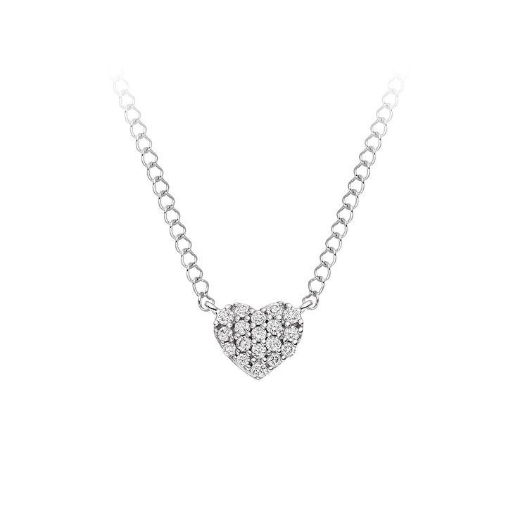Diamond Heart Pendant  £249 www.vashi.com