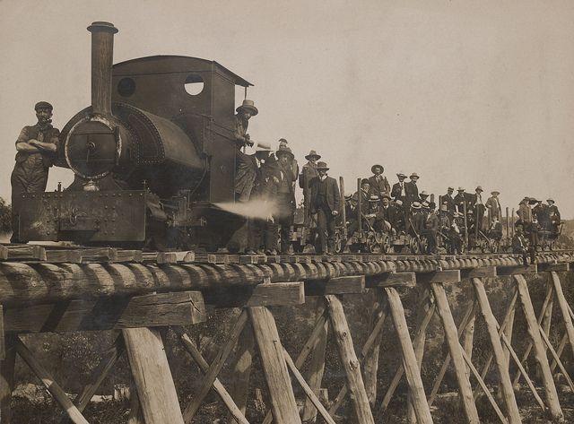 Walhalla railway bridge Victoria.Loco is an Industrial Saddletank Type- Walhalla was a famous Victorian Gold Mine.