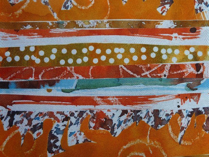 Tatty Gems Textiles. - Disperse Dyes on Polyester Satin.