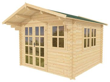Daisy 10 x 10 Wood Shed / Pool House - tropical - sheds - other metro - ECO Garden Sheds