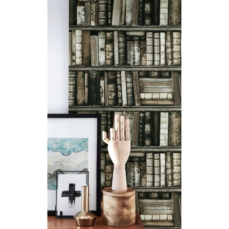 33 best images about bookcase wallpaper by koziel on pinterest antique bookcase antiques and. Black Bedroom Furniture Sets. Home Design Ideas