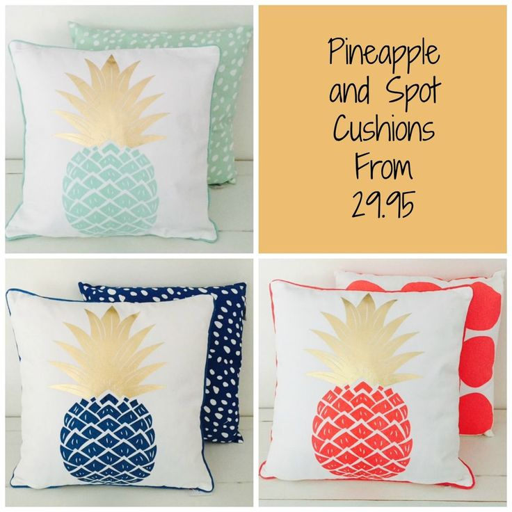 NEW Canvas Mint Green, Blue, Watermelon Coral Pineapple Cushion and Insert 43cm in Home & Garden, Home Décor, Cushions, Decorative Pillows | eBay!