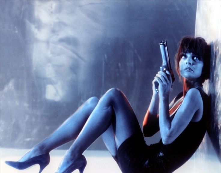 Nikita: Convicted junkie is recruited & retrained by the French government to become a lethal assassin. Sparked an American remake & even a tv series. (La Femme Nikita, 1990, Luc Besson. Portrayed by Anne Parillaud)