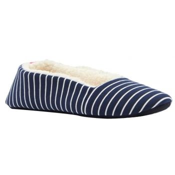 For when you're in need of a little feet up time or just want to step about the house in style and comfort, get your feet into these cosy Joules slippers. http://www.marshallshoes.co.uk/womens-c2/joules-womens-dreama-navy-white-striped-slippers-p4041