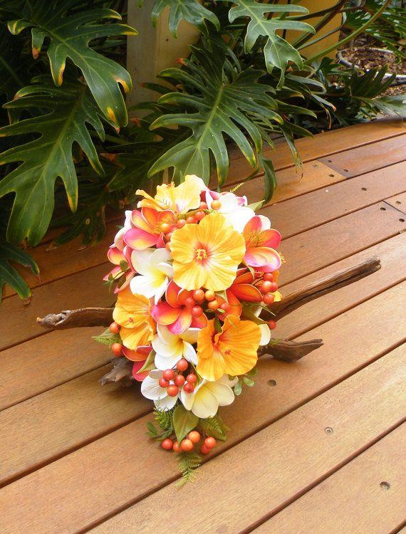 Hibiscus Bouquet Plumeria Frangipani Bouquet by Abloomortwo