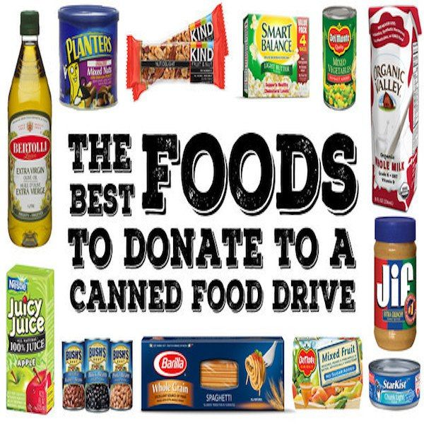 Best Foods For A Food Drive