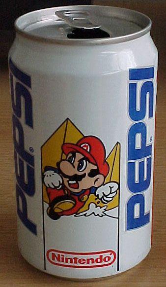 Super Mario Pepsi Can