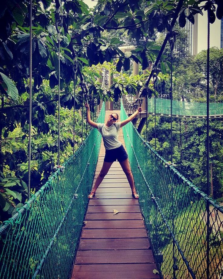 Our Happy Customer enjoying the #KL #Forest #Eco #Park (formerly know as the Bukit Nanas Forest Reserve) was gazetted as a forest reserve in 1906 and is one of the oldest in Malaysia. Book Kuala Lumpur City Tour with us: http://gotourister.com/tours/Kuala-Lumpur/