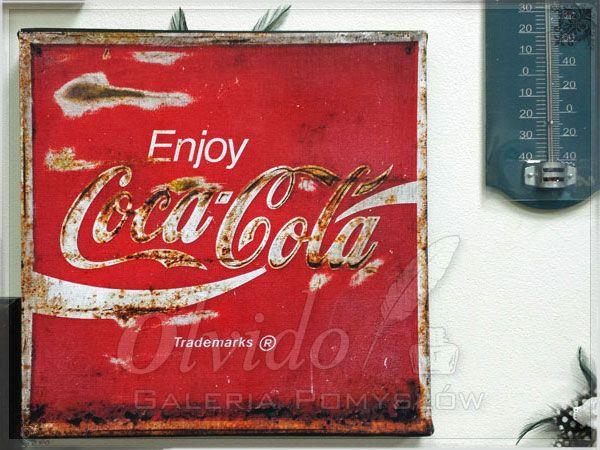 Obraz na płótnie - stara reklama Coca-Cola
