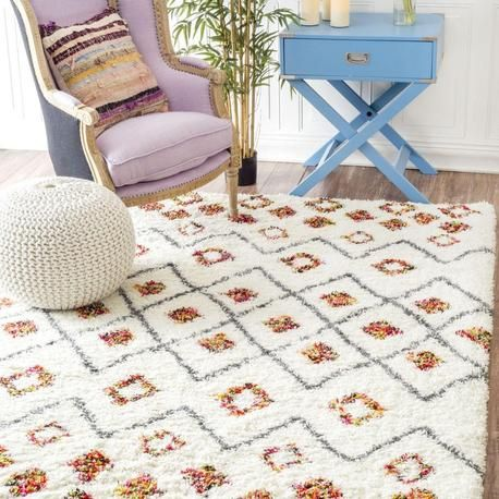 NuLoom Cicely Shaggy (White) Rug