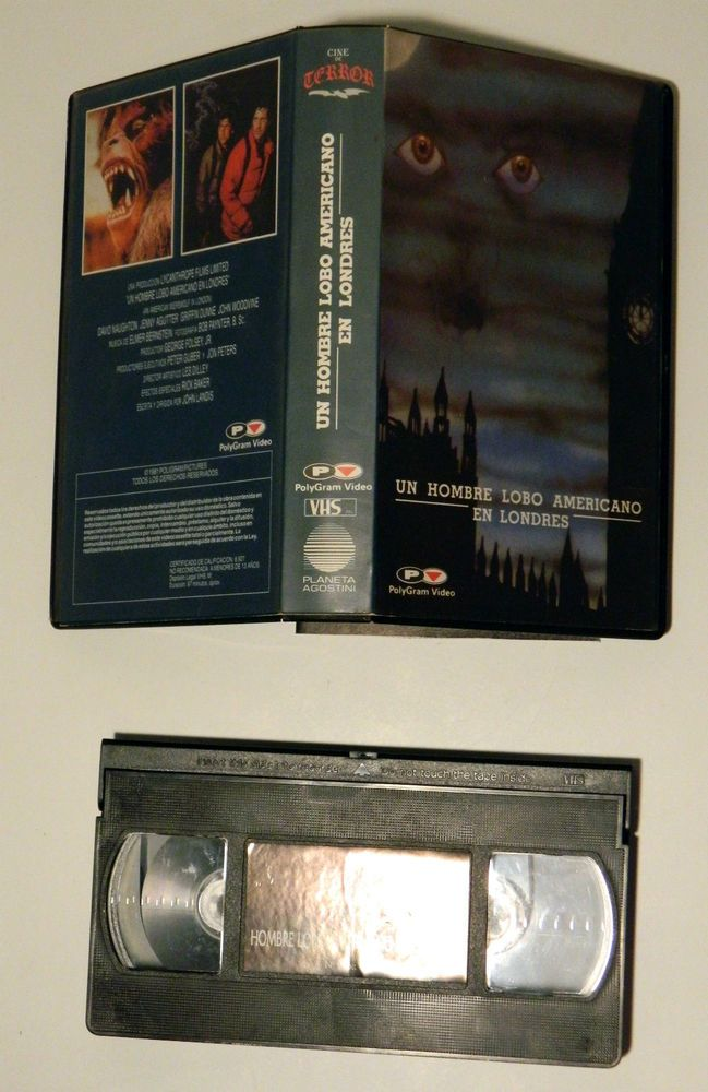 UN HOMBRE LOBO AMERICANO EN LONDRES VHS