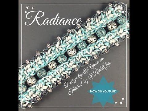 NEW Rainbow Loom RADIANCE Bracelet (7 Pin Bar) by Azmsmom on Instagram.