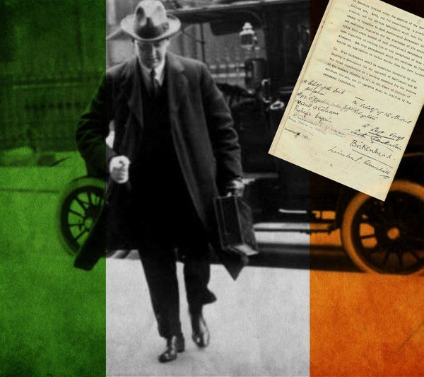 "Early this morning I signed my death warrant"" the Anglo Irish Treaty was Signed #OnThisDay 1921 #IrishHistory"