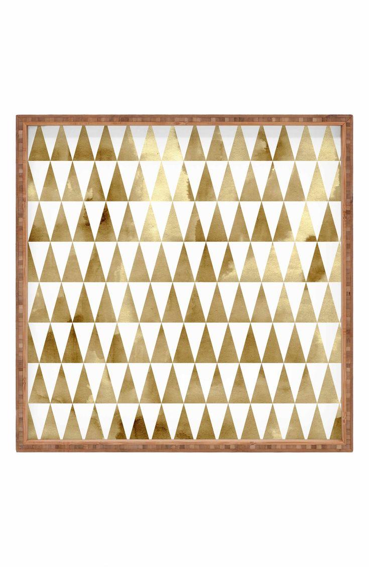 Main Image - Deny Designs Georgiana Paraschiv - Triangle Pattern Decorative Tray