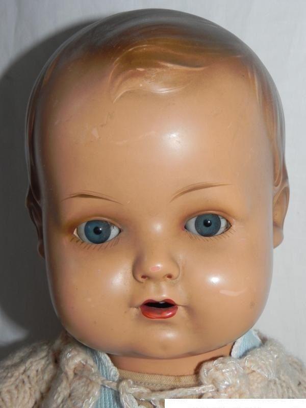 Alte Schildkröt 53 cm Puppe Puppen Pappmache ? Zelluloid ? Puppendoktor | eBay