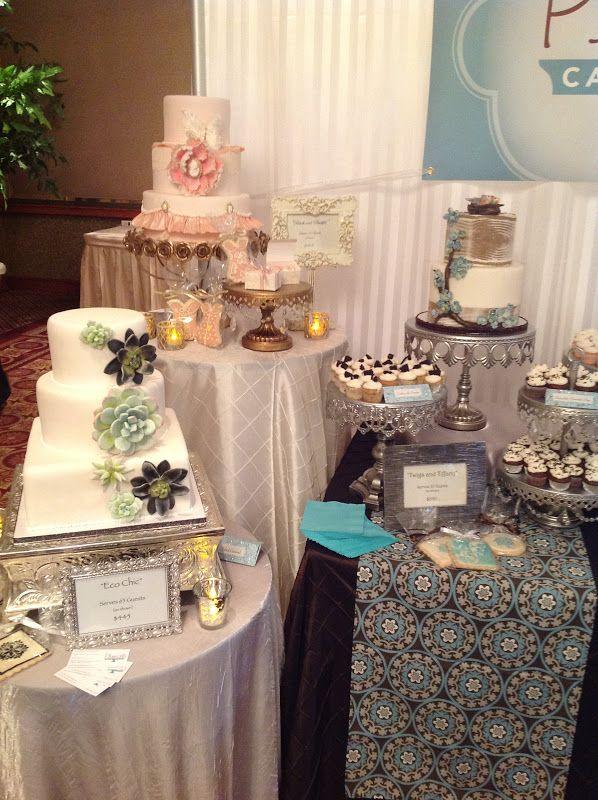 Exposition Cake Design : bridal+show+cake+booth Plumeria Cake Studio: Our Bridal ...