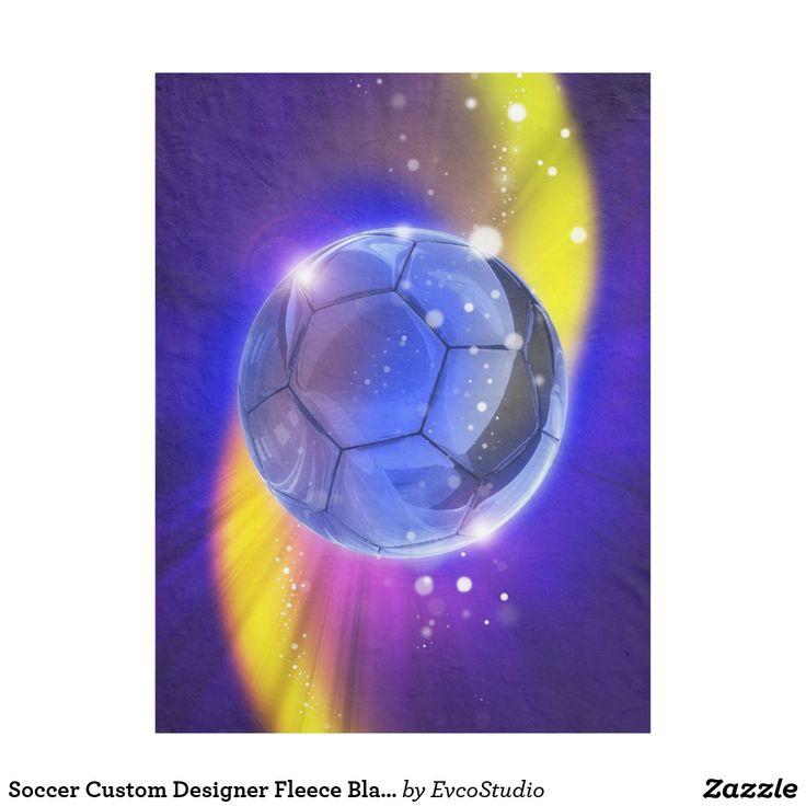 Soccer Custom Designer Fleece Blanket