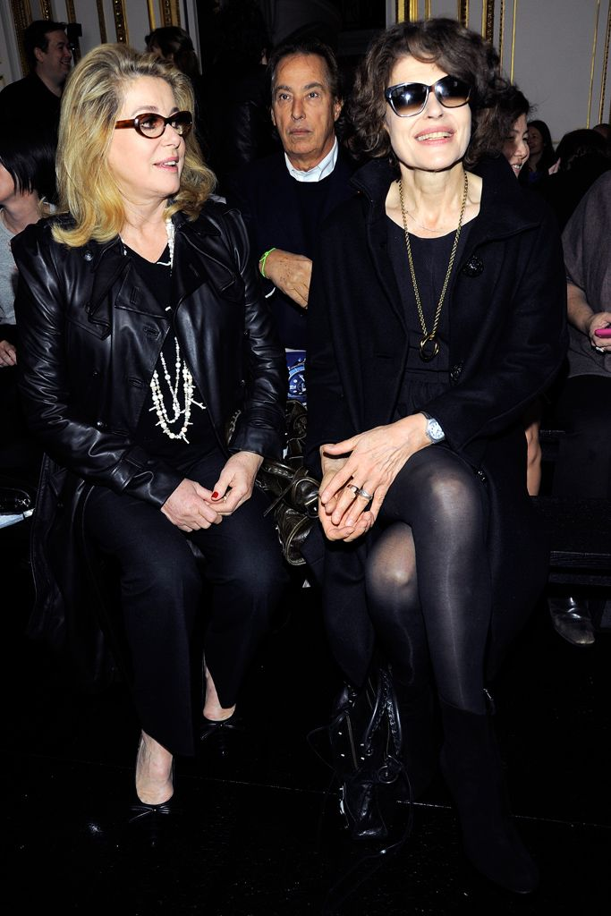 Catherine Deneuve and Fanny Ardant at Balenciaga S11 RTW