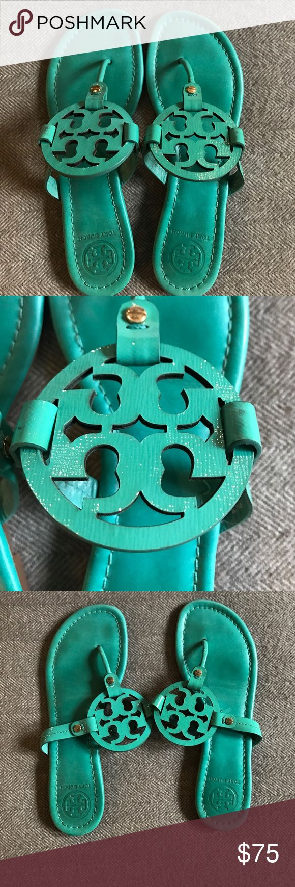 Tori Burch Gently Used Turquoise Sandal - Size 9 Tori Burch Gently Used Turquoise Sandal - Size 9 Tory Burch Shoes Sandals