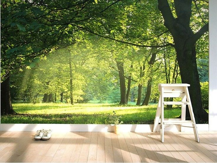 3D Wallpaper Mural Idyllic Natural Scenery And Flowers Wall Paper Background