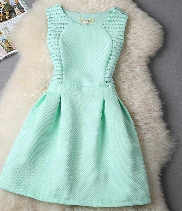 Green mint dress